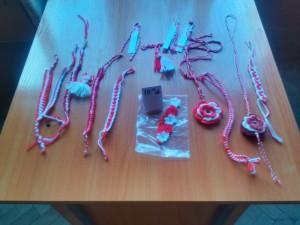 Най - атрактивни мартеници Изработени от ученици от 6 клас с учител Стефка Пеевска